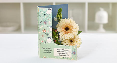 L shape flowercards