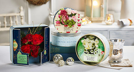 Christmas Cards in Tins