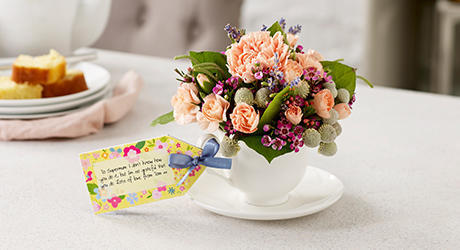 Mother's Day teacups and jugs