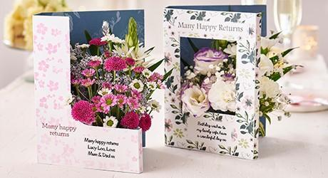 Birthday Flowers Personalised Cards Gifts Flowercard