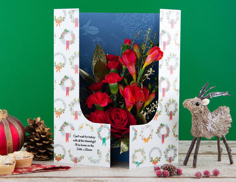 Christmas flowercard grande