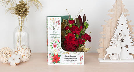 Christmas L Shaped Flowercards