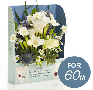 60th birthday floralcard