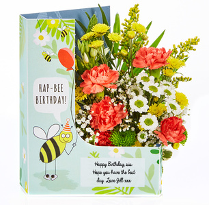 Birthday Fresh Flowers In A Card