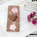 Milk chocolate heart bar