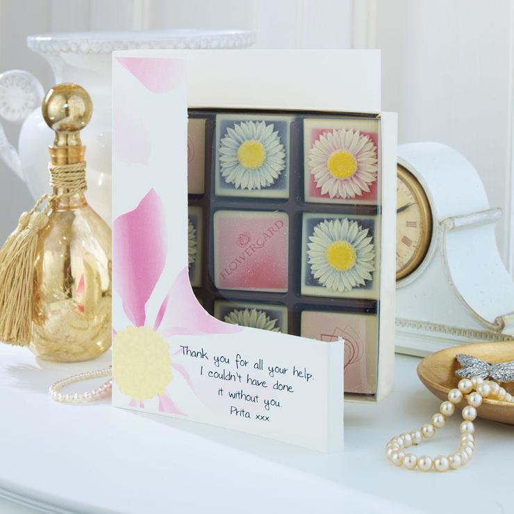 Choc Box Card - Daisies