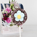 Dark chocolate daisy lolly