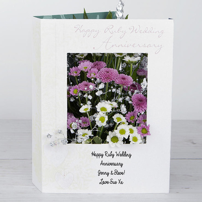 Ruby Wedding - Flower Cards