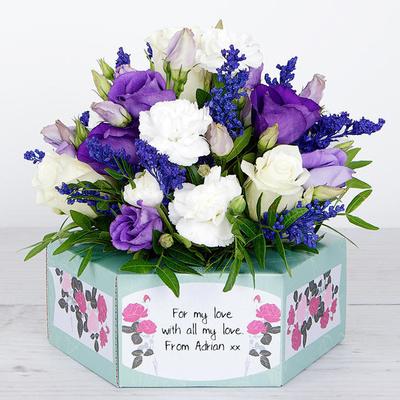 Purple Polka - Flower Cards