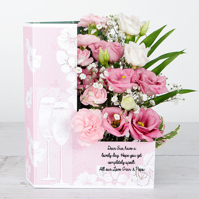 Pink Bubbles - Flower Cards