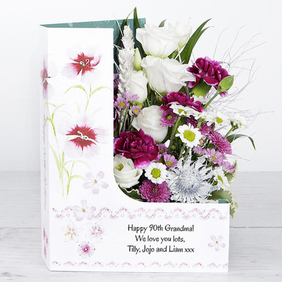 90 Happy Returns - Flower Cards