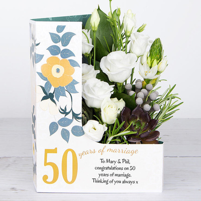 Golden Anniversary Glow - Flower Cards