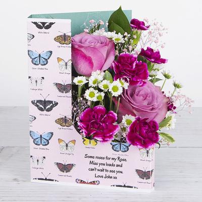 Fluttering Rose - Flower Cards