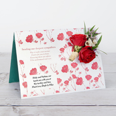 With Sympathy - Flower Cards
