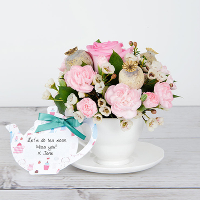 Tea and Cake - Flower Cards