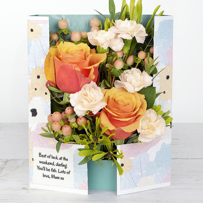 Peach Satin - Flower Cards