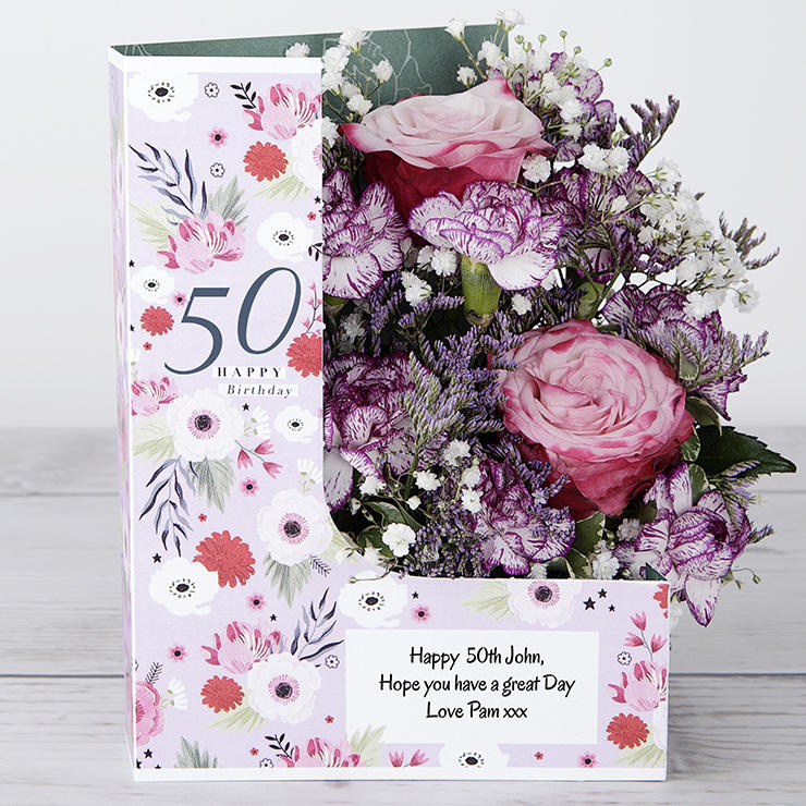 30th 50th 60th 70th 80th 90th 100th Birthday Flowers