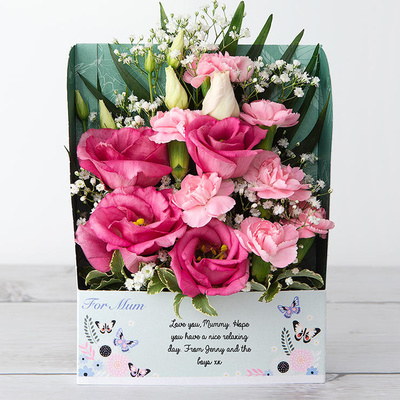 Pretty Pink Butterflies - Flower Cards