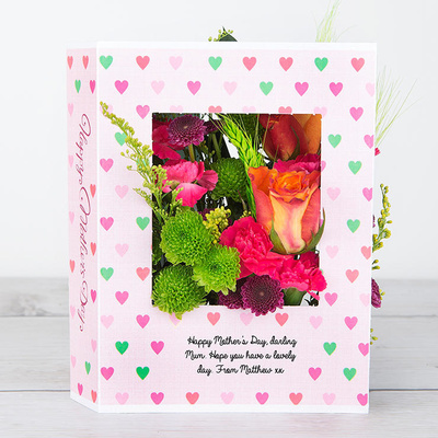 Lovehearts for Mum - Flower Cards