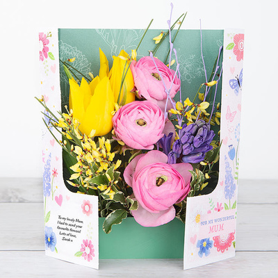 Butterfly's Tulips - Flower Cards