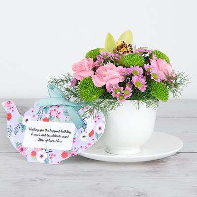 Blushing Birthday - Flower Cards