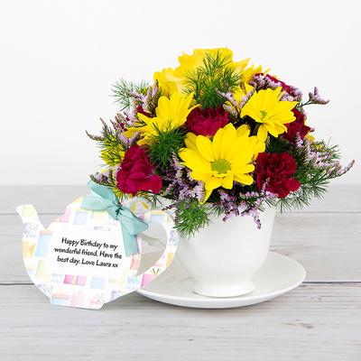Birthday Santeani - Flower Cards