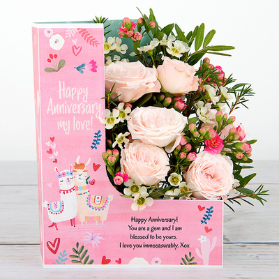 Blushing Bouquet - Flower Cards