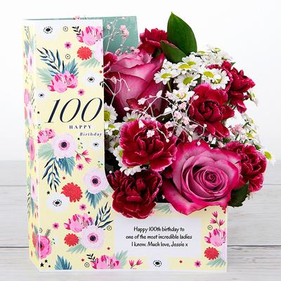 100 Birthday Hugs - Flower Cards